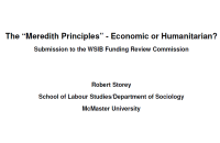 2011 Submission to WSIB Funding Review - 33p.