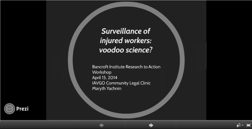 Surveillance presentation